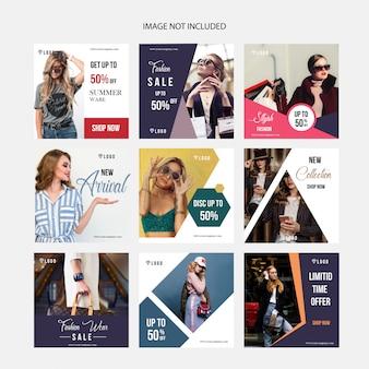 Vorlage für soziales digitales marketing