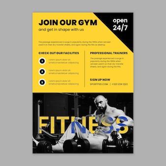 Vorlage für sport- und technik-flyer