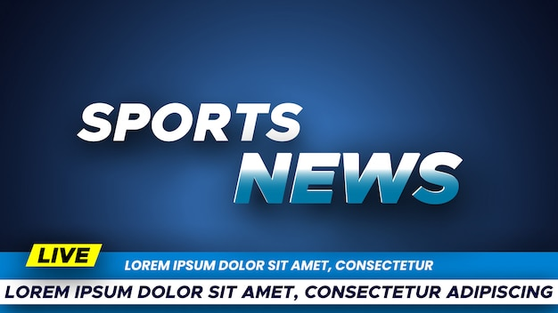 Vorlage für sportnachrichten banner.