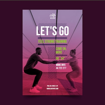 Vorlage für sportplakate mit farbverlauf