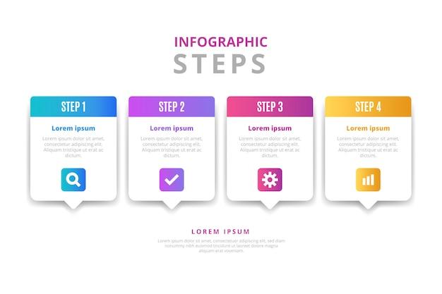 Vorlage für steigung-infografik-schritte