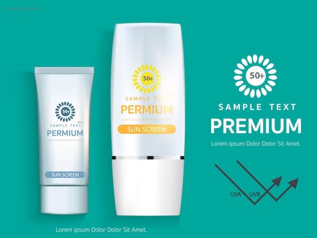 Vorlage für sunscreen-anzeigen