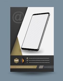 Vorlage für technologieanwendung auf smartphone