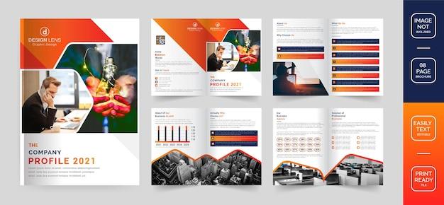 Vorlage für unternehmensprofil-broschüren