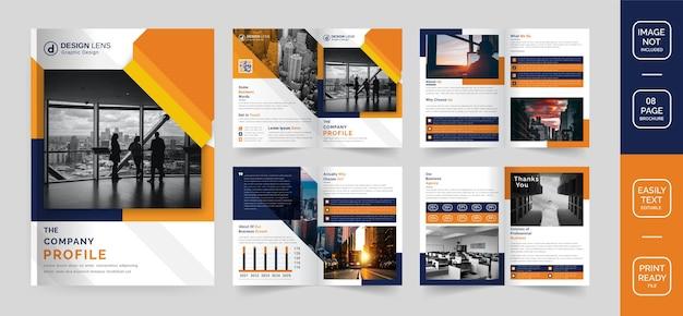 Vorlage für unternehmensprofil-broschüren Premium Vektoren