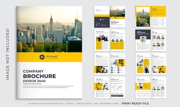 Vorlage für unternehmensprofilbroschüre oder mehrseitiges broschürendesign