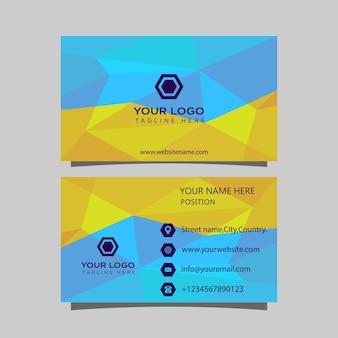 Vorlage für unternehmensvisitenkarte visitenkarte bereit zum ausdrucken des personalausweises mit anschnitten