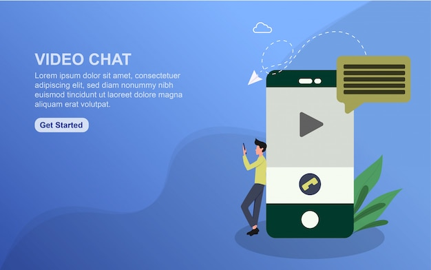 Vorlage für video-chat-zielseite