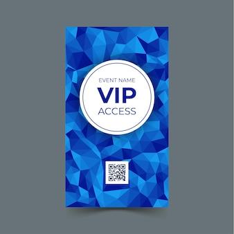 Vorlage für vip-zugangskarte