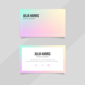 Vorlage für visitenkarten mit farbverlauf