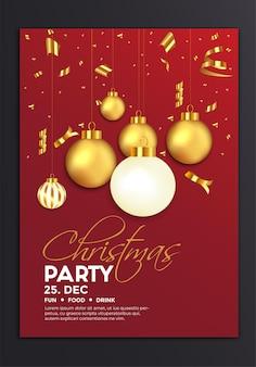 Vorlage für weihnachtsfeierplakate