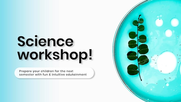 Vorlage für wissenschaft und bildung, präsentationsvektor