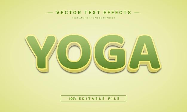 Vorlage für yoga-texteffekte