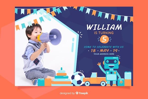 Vorlage geburtstagseinladung für kinder