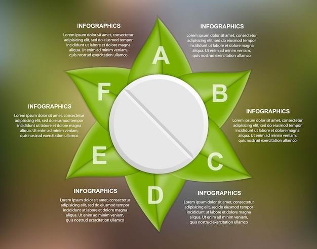 Vorlage infografiken für die medizin.