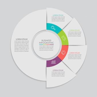Vorlage infographik vorlage business kreis