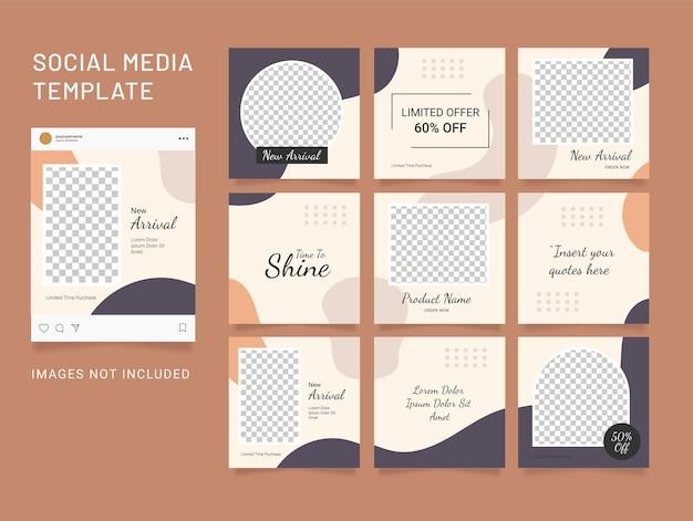 Vorlage instagram social media mode frauen puzzle feed