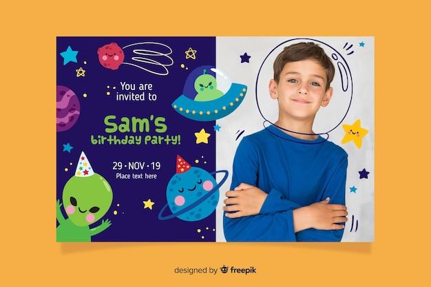 Vorlage kindergeburtstagseinladung