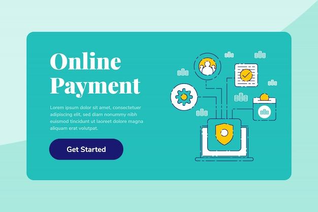 Vorlage landing page web banner sparen sie ihr geld flat illustration