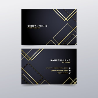 Vorlage luxus-visitenkarte