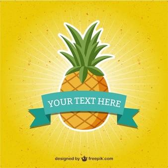 Vorlage mit ananas