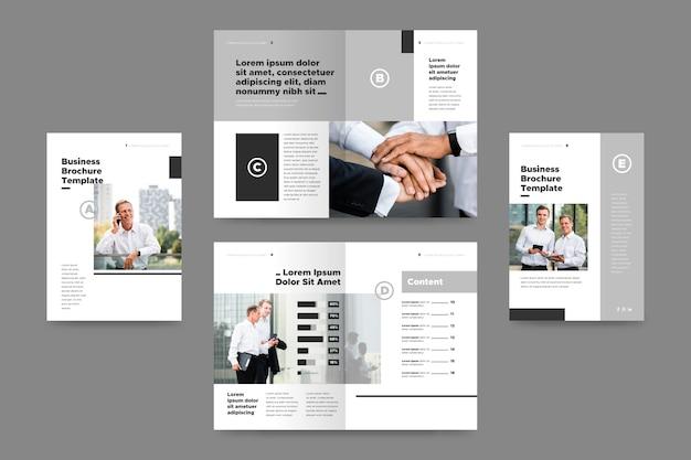 Vorlage mit foto für broschüre