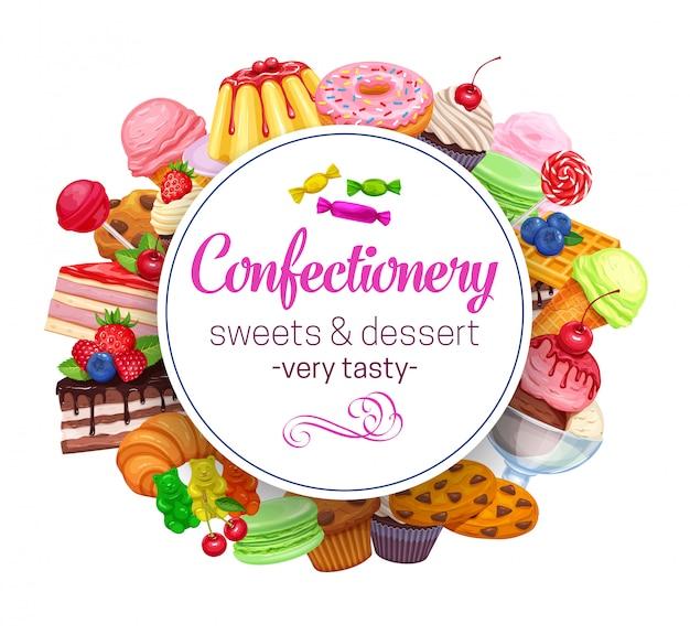 Vorlage mit süßwaren
