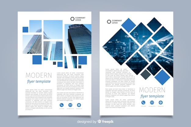 Vorlage mosaik business flyer