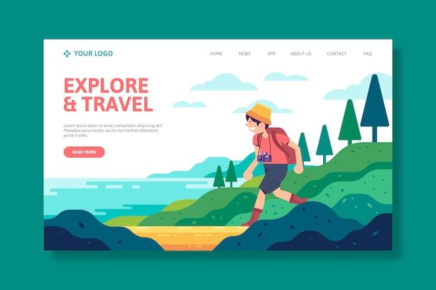 Vorlage reise landing page