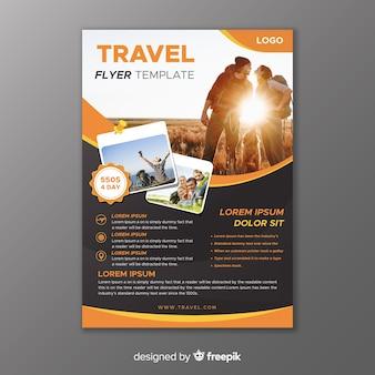 Vorlage reiseplakat mit bild