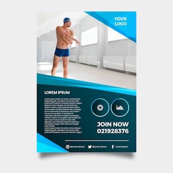 Vorlage sport flyer mit foto