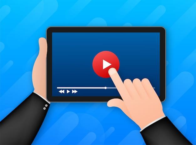 Vorlage videorahmen illustration