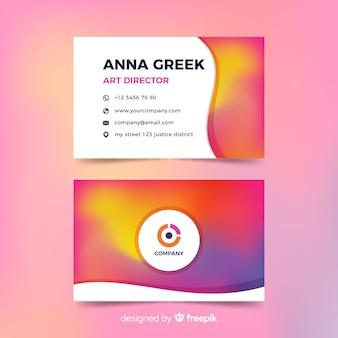 Vorlage visitenkarte mit farbverlauf