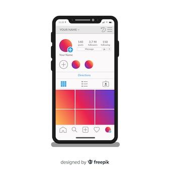 Vorlage von instagram fotorahmen auf dem iphone