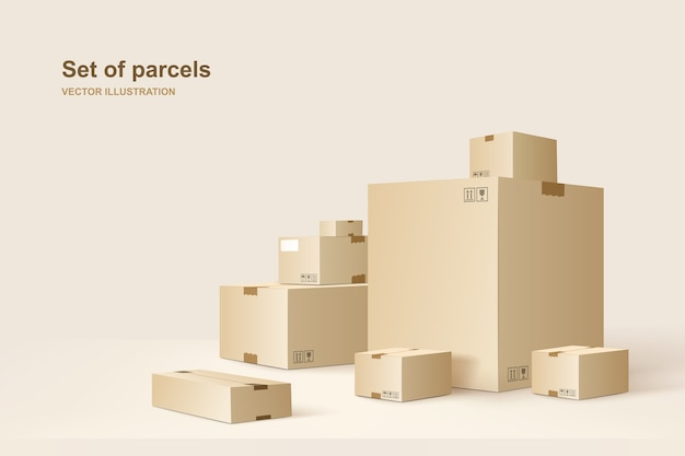 Vorlage von paketen