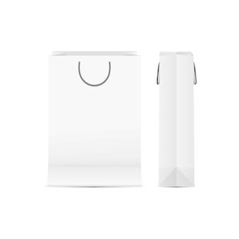 Vorlage von paperbag front und seitenansicht