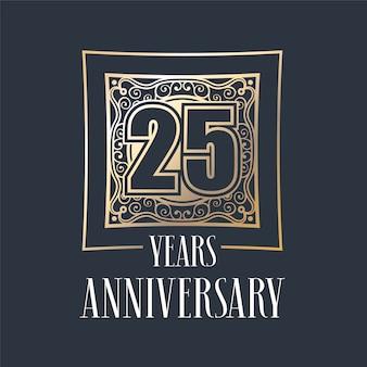 Vorlage zum 25-jährigen jubiläum