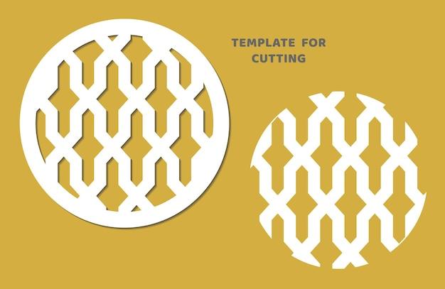 Vorlage zum laserschneiden, holzschnitzen, papierschnitt. kreismuster zum schneiden. dekorative panel-vektor-schablone.