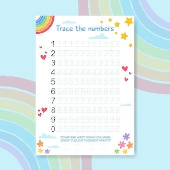 Vorlage zur nummernverfolgung