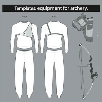 Vorlagen: ausrüstung für das bogenschießen