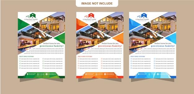 Vorlagen-flyer oder broschürendesign können zur abdeckung von unternehmensberichten verwendet werden