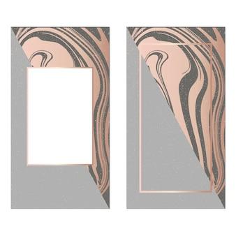 Vorlagen frame quadratische flüssigkeit kunst gold mode