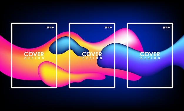 Vorlagen für abstrakte covers, flyer, banner und poster