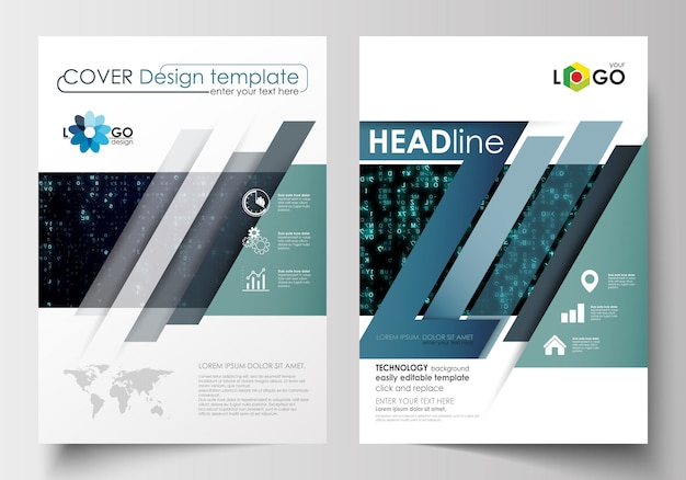 Vorlagen für broschüre, magazin, flyer, broschüre.