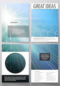 Vorlagen für broschüren, magazine, flyer oder berichte.