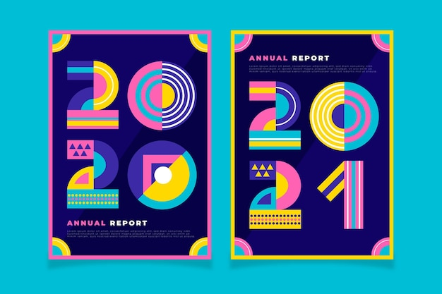 Vorlagen für den geometrischen jahresbericht 2020-2021