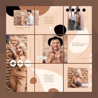 Vorlagen für instagram-puzzle-feeds