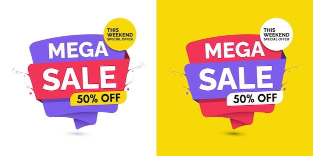 Vorlagen für mega-sale-design-banner