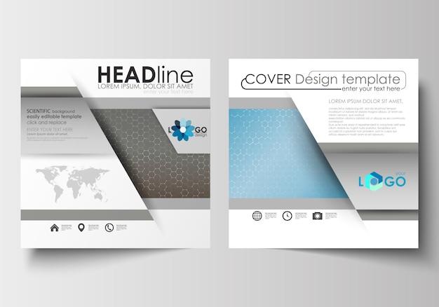 Vorlagen für quadratische broschüren, flyer, broschüren
