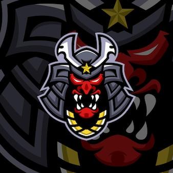 Vorlagen für samurai-maskottchen-logos